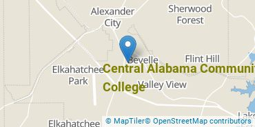 Location of Central Alabama Community College