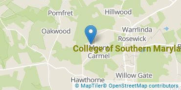 Location of College of Southern Maryland