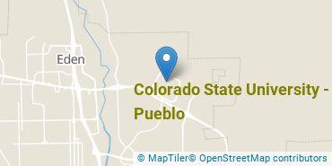 Location of Colorado State University - Pueblo