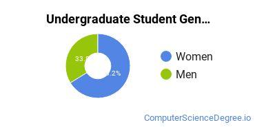 Undergraduate Student Gender Diversity at  Colorado Technical University - Colorado Springs