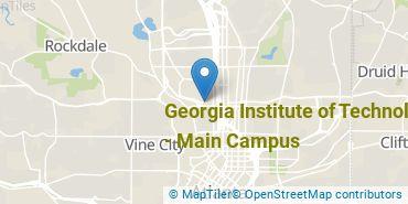 Location of Georgia Institute of Technology - Main Campus
