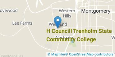 Location of H Councill Trenholm State Community College