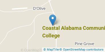 Location of Coastal Alabama Community College