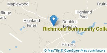Location of Richmond Community College