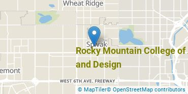Location of Rocky Mountain College of Art and Design