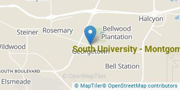 Location of South University, Montgomery