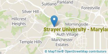 Location of Strayer University - Maryland