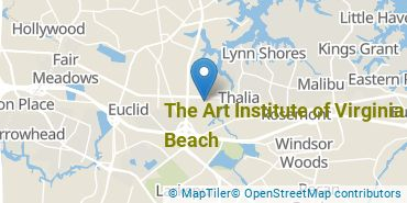 Location of The Art Institute of Virginia Beach