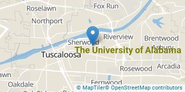 Location of The University of Alabama