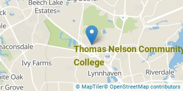 Location of Thomas Nelson Community College