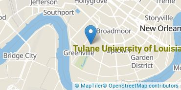 Location of Tulane University of Louisiana