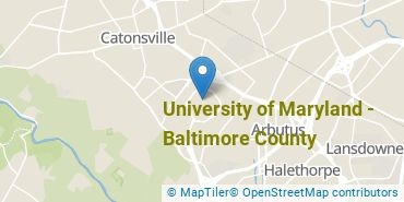 Location of University of Maryland - Baltimore County