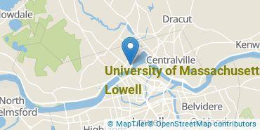 Location of University of Massachusetts - Lowell