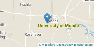 Location of University of Mobile