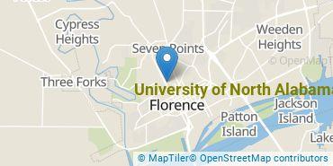 Location of University of North Alabama
