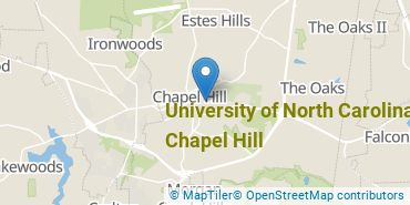Location of University of North Carolina at Chapel Hill