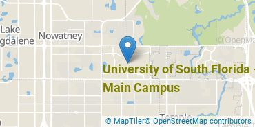 Location of University of South Florida - Main Campus