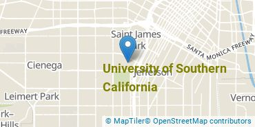 Location of University of Southern California