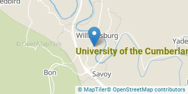 Location of University of the Cumberlands