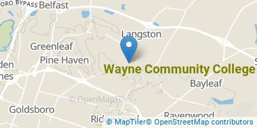 Location of Wayne Community College