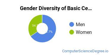 Gender Diversity of Basic Certificates in Data Modeling/Warehousing and Database Administration