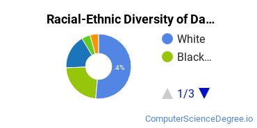 Racial-Ethnic Diversity of Data Modeling/Warehousing and Database Administration Undergraduate Certificate Students