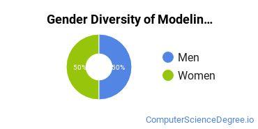 Virtual Modeling & Simulation Majors in VA Gender Diversity Statistics