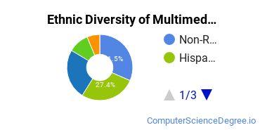 Web & Multimedia Design Majors in CA Ethnic Diversity Statistics