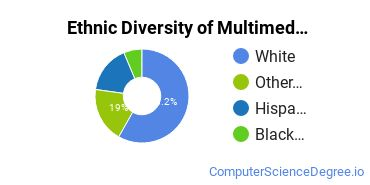 Web & Multimedia Design Majors in OK Ethnic Diversity Statistics