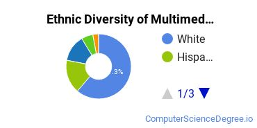 Web & Multimedia Design Majors in OR Ethnic Diversity Statistics