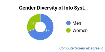 Information Systems Majors in TX Gender Diversity Statistics