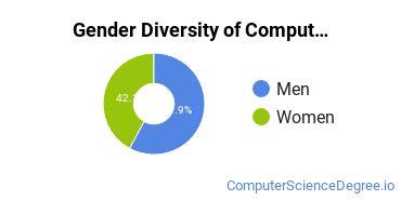 Computer Support Specialist Majors in LA Gender Diversity Statistics