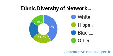 Network Administration Majors in CA Ethnic Diversity Statistics