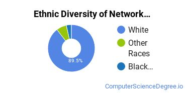Network Administration Majors in IN Ethnic Diversity Statistics