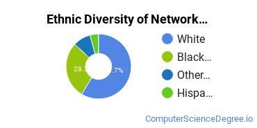 Network Administration Majors in LA Ethnic Diversity Statistics